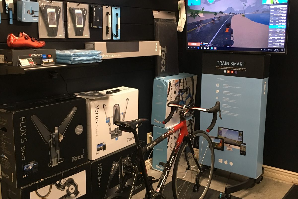 """Tacx Demo Center...Come in and give it a """"spin"""""""